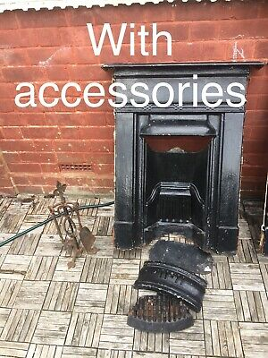 Victorian Cast Iron Fireplace Surround Antique - Historic Railway Town Wolverton