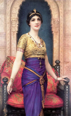 Dream-art hand painted Oil painting william clarke wontner - an egyptian beauty