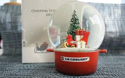 Le Creuset Christmas Snow Dome Red - Authentic Limited Edition (open box unused)