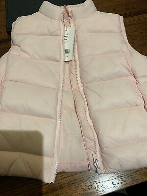 Seed Heritage Girls Pink Puffer Vest Size4 Bnwt