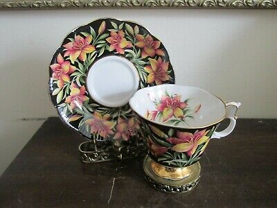 Royal Albert Bone China England Provincial Flowers Cup And Saucer Prairie Lily