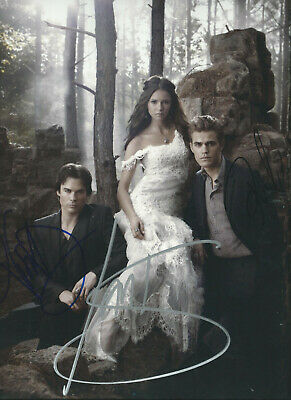 """The Vampire Diaries Supersized 11"""" X 14"""" In-Person Hand Signed Autographed Photo"""