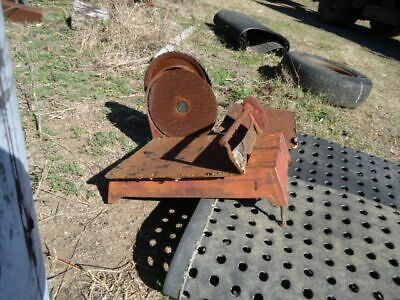 Vintage Industrial Butchers Meat Slicer With Rare Link Belt