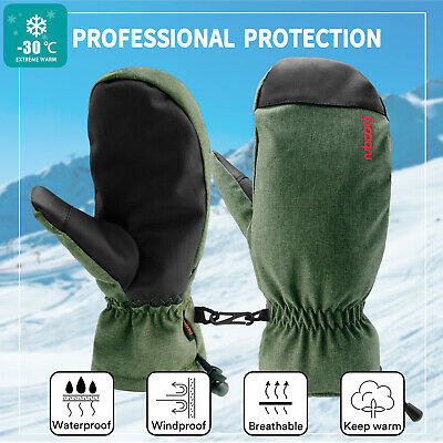 -30℃ Ski Winter Warm Gloves Snow Snowboard Thermal Wind Waterproof Outdoor Sport