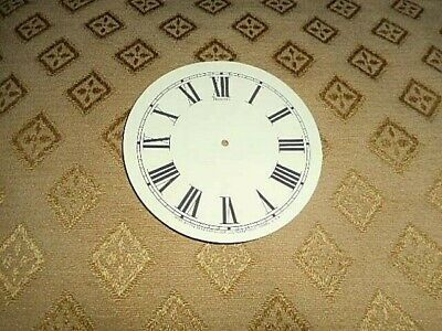 """For American Clocks - Round Sessions Paper (Card) Clock Dial- 3 1/4"""" M/T- CREAM"""