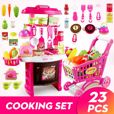 23X Kids Kitchen Playset Children Toy Pretend Role Play Cooking Food Toys