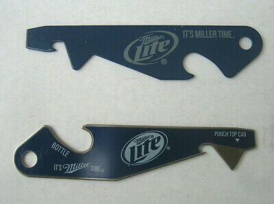 (2 Lot) MILLER LITE Beer Falcons Bottle PUNCH TOP CAN OPENER Pop  Football