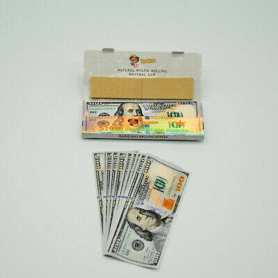 3 Booklets $100 Smoking Rolling Paper With Filtration Tips Natural Gum