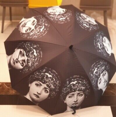 The Many Faces of Fornasetti Girl large Umbrella