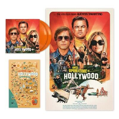 Once Upon a Time in Hollywood Orange Vinyl Record Original Soundtrack 2LP New