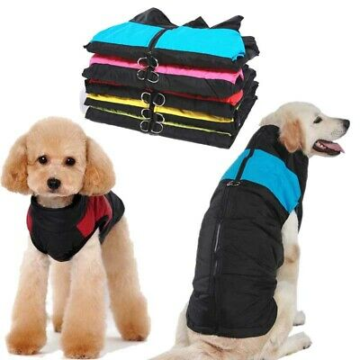 Waterproof Pet Padded Clothes Jacket Large Small Cat Dog Warm Winter  Vest Coat