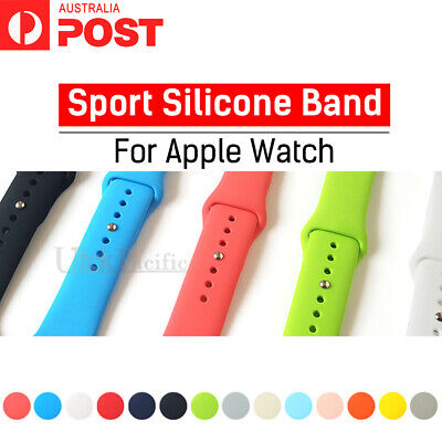 For Apple Watch Series 5/4/3/2/1 Sports Silicone Bracelet Strap Band 38/42/40/44