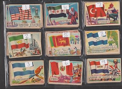 Flags Of The World  A&BC GUM Cards 1963 Smaller size version ...Pick your own