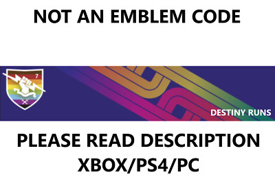 Destiny 2 True Colors Emblem NO CODE [PS4/PC/XBOX] *Read Description*