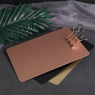 Metal Clipboard Writing Pad File Folders Document Holder School Stationery Gift