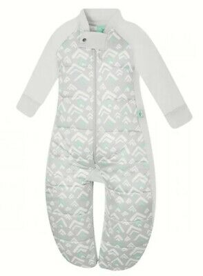 ErgoPouch Organic Cotton Sleep Suit Bag Grey Mountains Unisex 2.5 Tog As New
