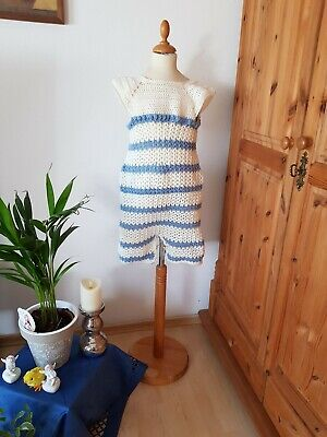 Adult Baby ANZUG BODY DRESS handmade CROCHED ROMPER SUIT   Gr. L
