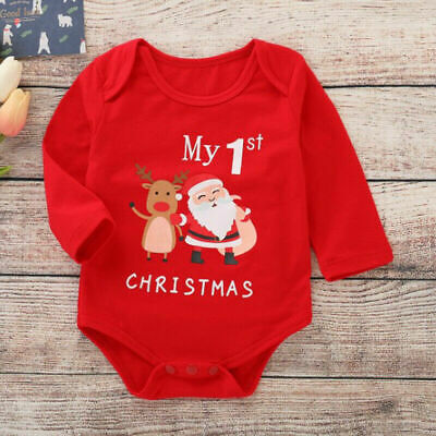Christmas Infant Baby Boys Girls Romper Jumpsuit Bodysuit Autumn Clothes Outfit