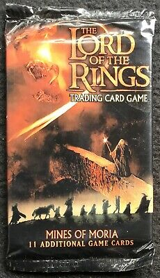LORD OF THE RINGS - Trading Game 11 Card Pack, Mines Of Moria, Sealed, CE, 2002