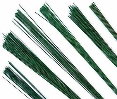 Flower Making Wire 24 Guage Dark Green Coated 100 Wires - Pack Of 2