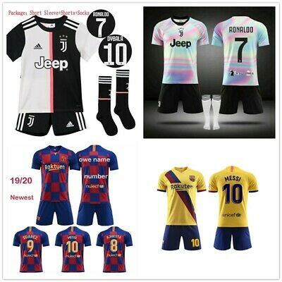 19/20 Football Kits Soccer Suits Kids Adults Jersey Strip Sports Outfit Tops HOT