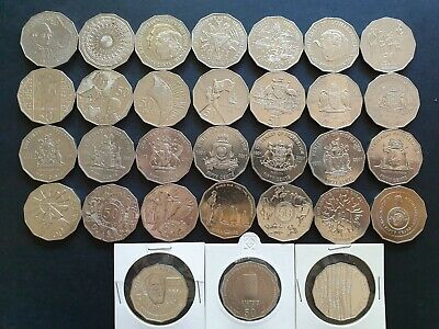 1970-2019 50 Cent Commemorative Complete Set, 31 Coins with 3 UNC & 2001 State