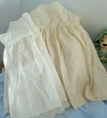 Vintage/Antique Baby Gown/Dress + Slip For Old Doll Or Collection