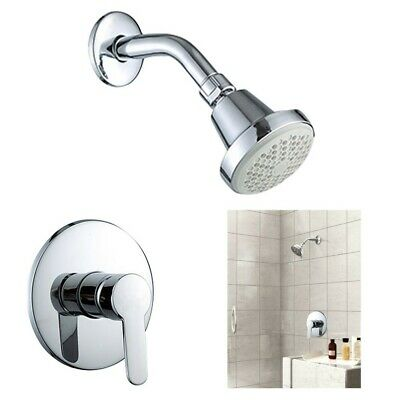Concealed Spray Shower Faucet Set With Hot And Cold Water Control Valve Handle