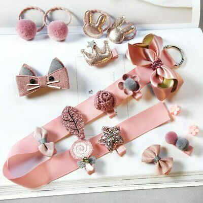 1 Set Baby Hair Clips grip Bow Girl Chiffon Barrettes Elastic Hair Band headband