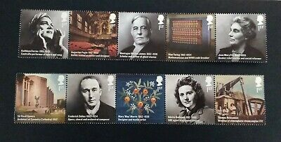 10 Brand New Royal Mail First Class Stamps good for posting - Famous people