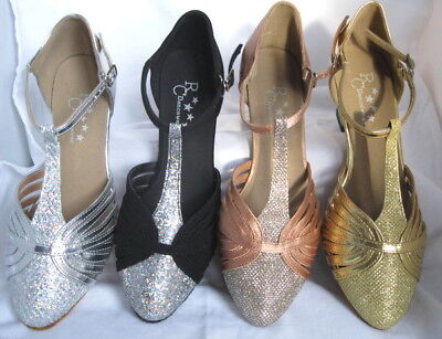 Ladies Black, Silver, Gold, Tan Ballroom, Latin, Salsa Dance Shoes - Sizes 3-8.5