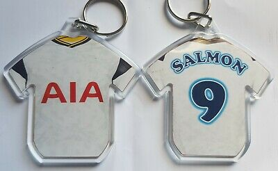 Tottenham Hotspur FC styled personalised keyring with badges