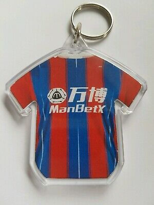 Crystal Palace FC  19/20 styled personalised keyring with all badges