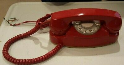 Western Electric Red Princess Dial Rotary  Telephone 12/71 702 B