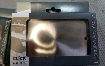 2 x Click Define Brushed Stainless Steel 2 Gang Blanking / Blank Plate FPBS061