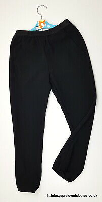 8-9 year Nutmeg stylish classic girls black trousers pants
