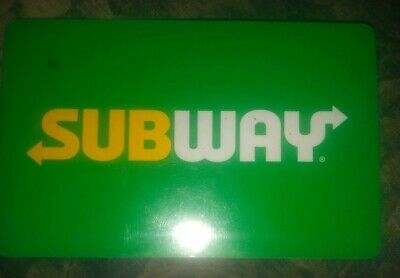 Subway * Used Collectible Logo w/Green Background Gift Card NO VALUE * .