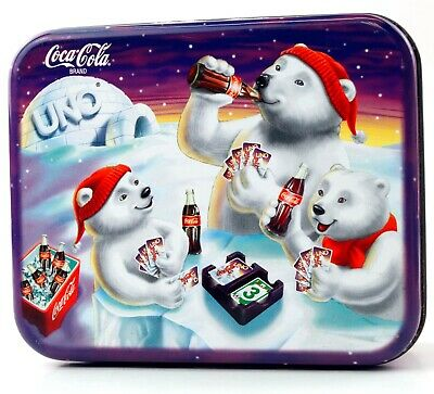 Coca-Cola UNO Card Game with Beautiful Tin  BRAND NEW 1998 Special Edition
