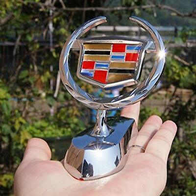 3D Chrome Metal Decal Hood Stand Ornament Emblem Badge Sticker for Cadillac