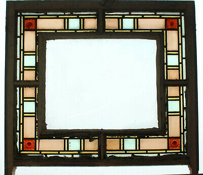 Victorian Sash Stained Glass Window With Rondels
