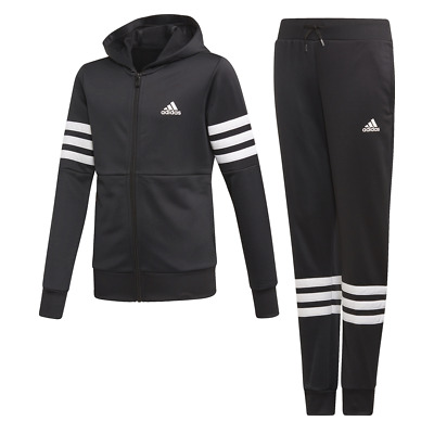 Adidas Girls Hooded Tracksuit Running School Sports Gym Youth Kids ED4638 New