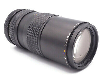 Focal MC Auto Zoom f1:4.5 80 - 200mm Camera Lens With Case Pentax PK Mount
