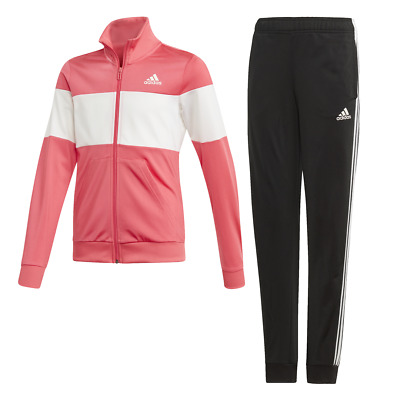 Adidas Girls Hooded Tracksuit Running School Sports Gym Youth Kids ED4641 New