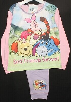 "Disney WINNIE THE POOH Girls Pyjamas/ WTP ""Best Friends Forever!"" PJs 1-4 Years"