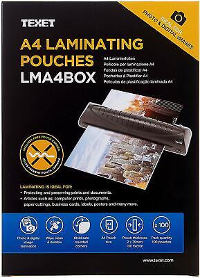 Texet A4 Laminating Pouches 150 microns