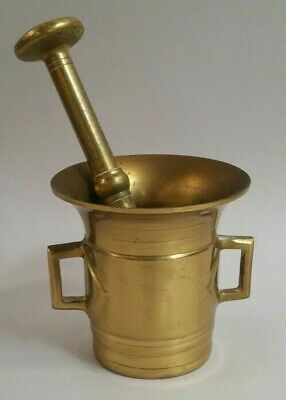 Brass Mortar and Pestle apothecary kitchen