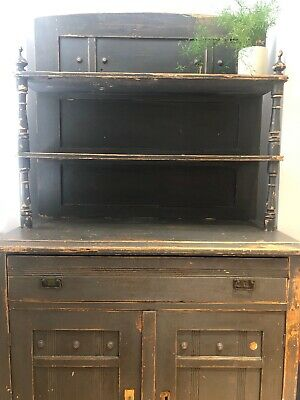 Antique Farmhouse Dresser Cabinet Storage Pantry Sideboard