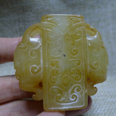Chinese Red Mountain Culture Handmade Carvings Luohan Peace Pendant