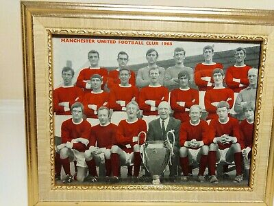 Framed Picture Of Manchester United 1968 Team