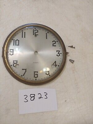 Antique Gilbert Tambour Mantle  Clock Dial And Bezel With Glass & Screws